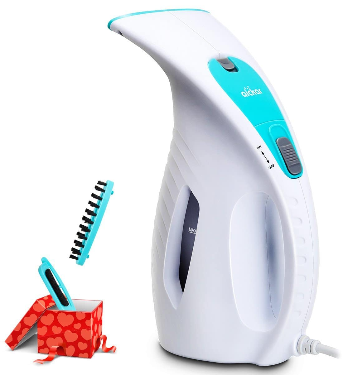 Aickar 180ml Portable Garment Steamer, 800W Powerful Clothes Steamer, ETL Approved Handheld Fabric Steamer, Travel Steamers for Clothes and Curtains - White $12.48
