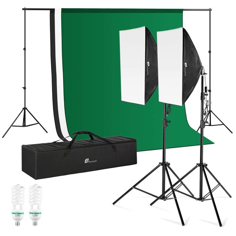 Houzetek Photography Video Studio, 10x6.5 FT Background Support System