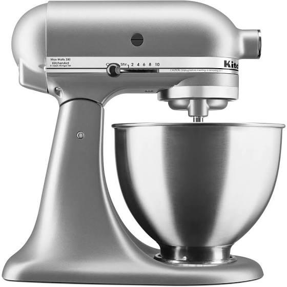 KitchenAid KSM88SL 4.5-Quart Mixer - Silver - 300W $189.99