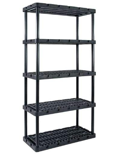 Gracious Living Knect-A-Shelf 72 in. H x 36 in. W x 18 in. D Resin Shelving Unit $32.99 free curbside pickup + use code AFQ1RMN21 for $10 off $100