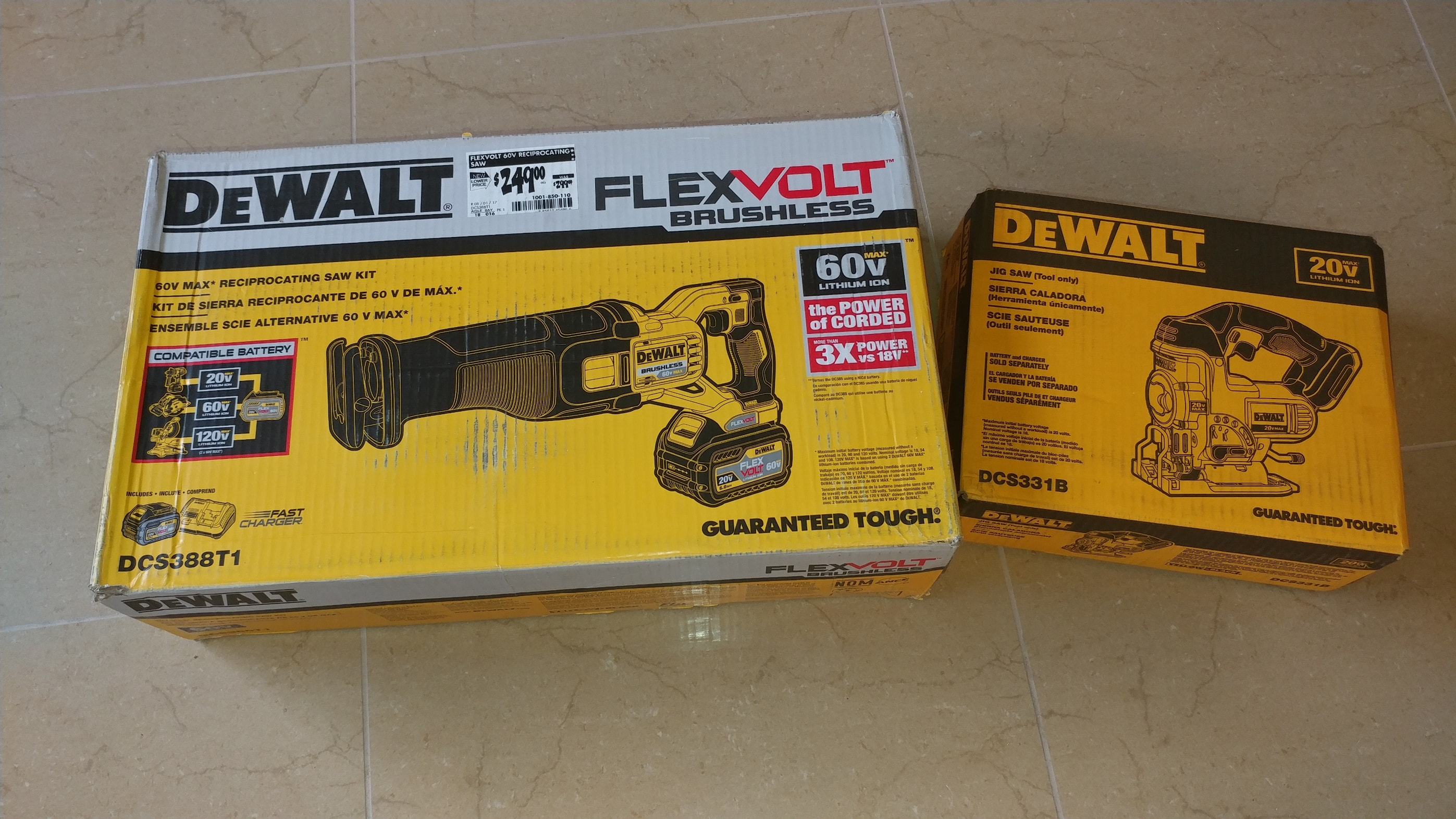 Dewalt 60V Reciprocating Saw Kit with bonus battery or tool for $249 at Home Depot (In store only YMMV)