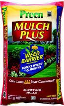 Preen Mulch 2 cubic feet bag.   $3.00 Lowe's