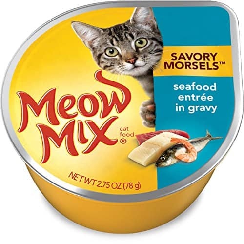 Meow Mix Savory Morsels Wet Cat Food 12 pack  2.75 oz $5.03