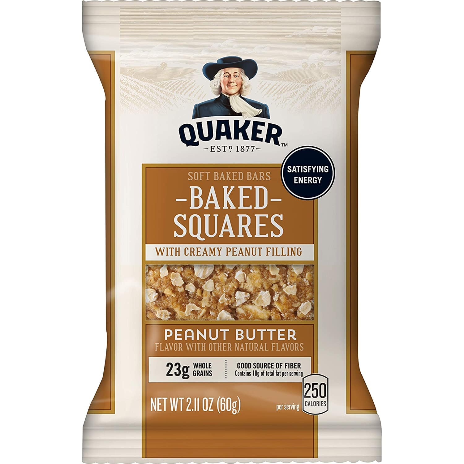 Quaker Baked Squares, Soft Baked Bars, Peanut Butter & Blueberry, 5 Bars (Pack of 4) as low as $8.82