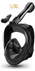 Aegend Full Face Snorkel Mask with Upgraded Safety Breathing System $11.99 50% off Coupon