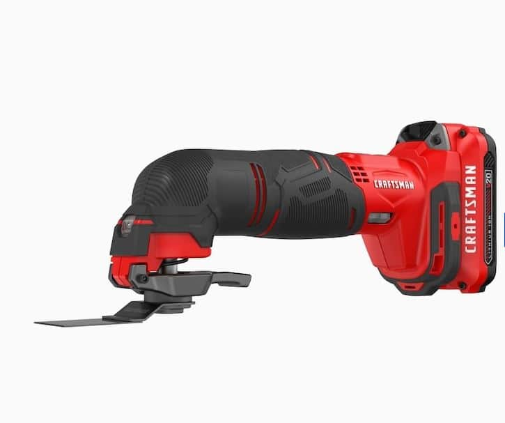 YMMV CRAFTSMAN V20 15-Piece 20-Volt Max Variable Speed Oscillating Multi-Tool Kit with Soft Case (1-Battery Included) $38.17