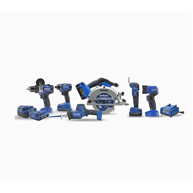 Kobalt Kobalt 24V max 6-Tool 24-Volt Max Brushless Power Tool Combo Kit $249.5