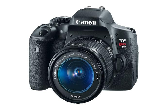 Canon EOS Rebel T6i EF-S 18-55mm f/3.5-5.6 IS STM Kit Refurbished (w/ FREE Battery Grip BG-E18 & Battery Pack LP-E17 Kit) $579.99
