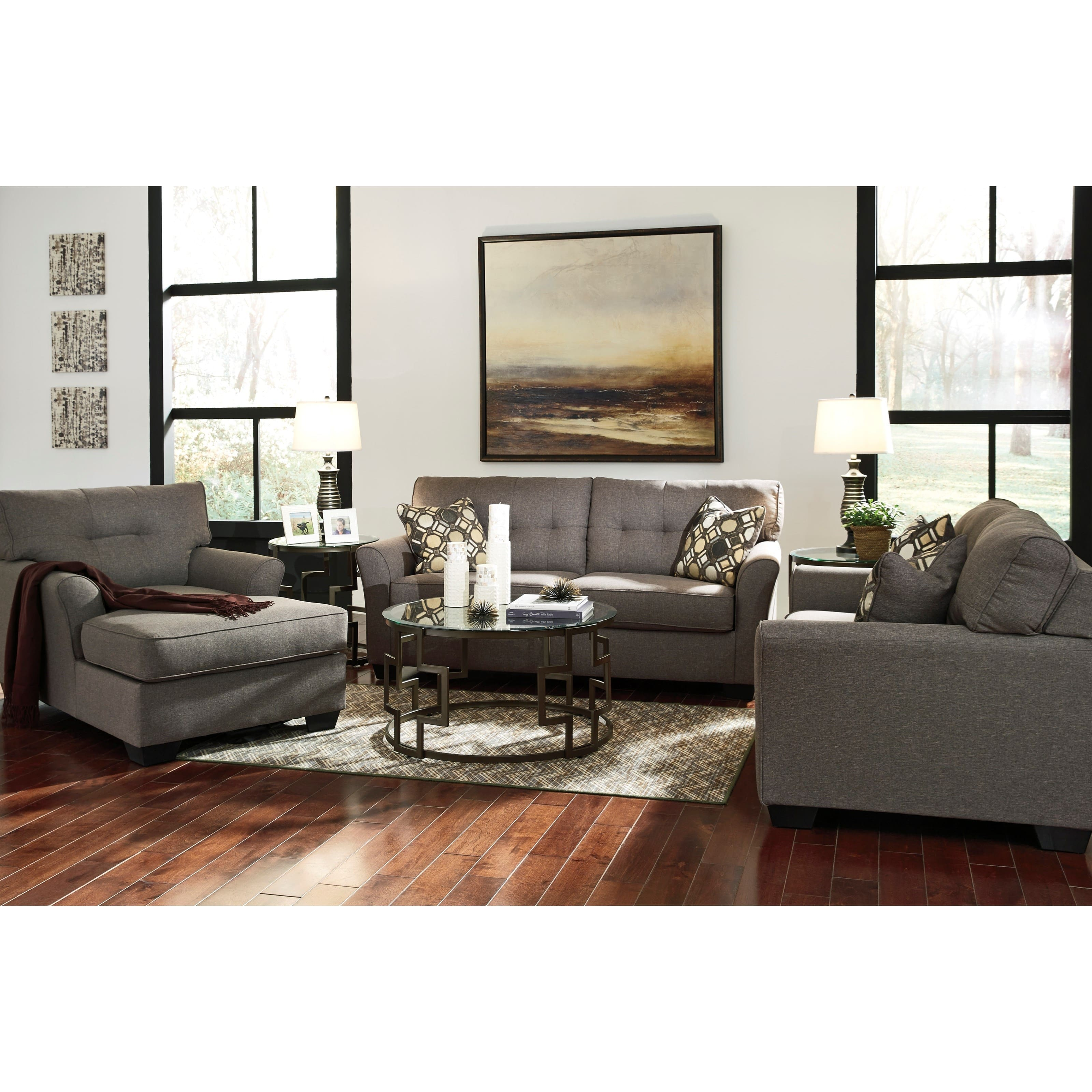 Magnificent Ashley Homestore Tibbee 5 Piece Living Room Set 748 Darcy Dailytribune Chair Design For Home Dailytribuneorg