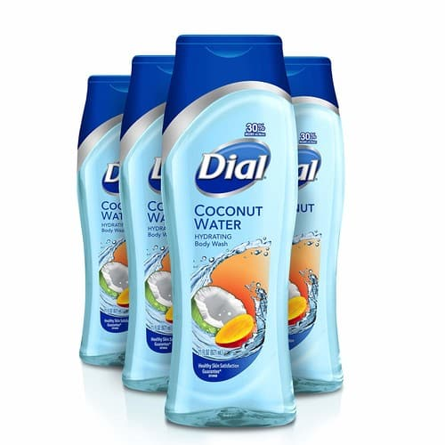 Dial Body Wash, Coconut Water & Mango, 21 Ounce (4 pack) $8.68 with Subscribe & Save coup
