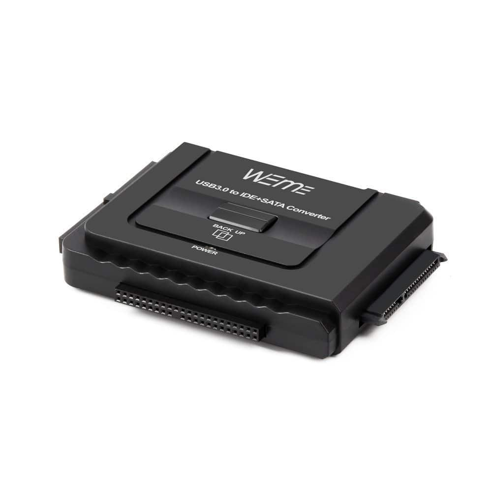 """Almost 50% off WEme USB 3.0 to SATA/IDE Adapter with Universal 2.5""""/3.5"""" Hard Drive Disk Converter $13.99 AC @ Amazon"""