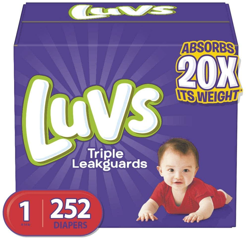 Amazon Luvs size 1 diapers -- $19.14 after 20% diaper discount