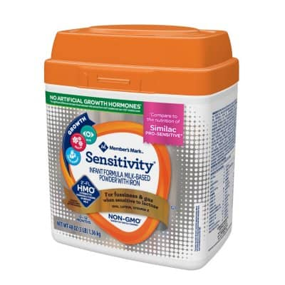 Member's Mark HMO Non-GMO Infant Formula, Sensitivity (48 oz.) $21.48