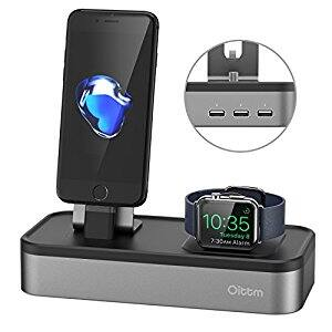Nightstand dock for Apple iWatch & iPhone Charger Total of 5 USB ports (Amazon) $26.59