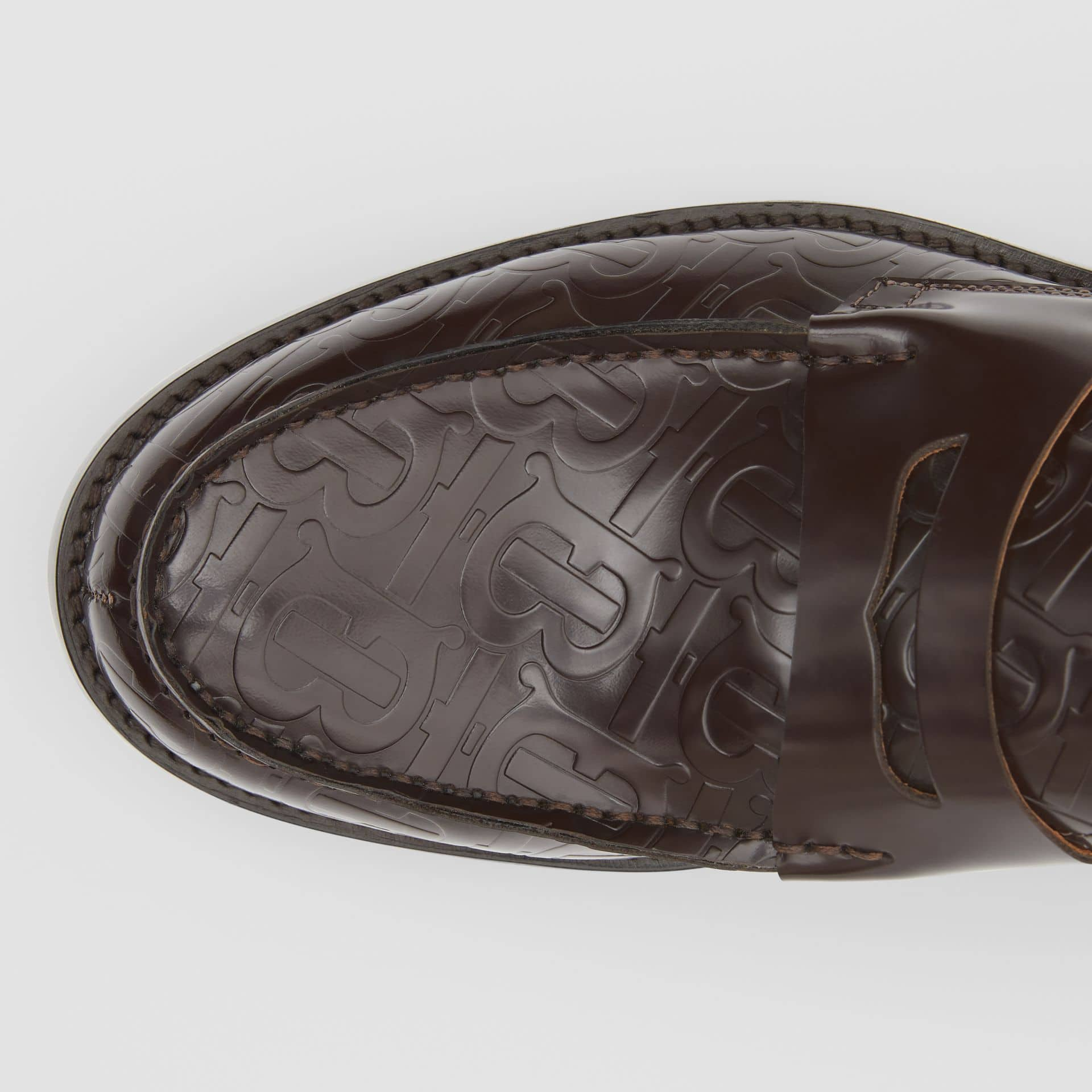Burberry Monogram Leather Loafers $340