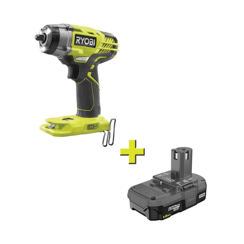 RYOBI 18-Volt ONE+ Cordless 3/8 in. Impact Wrench & 1.5 Ah Lithium-Ion Battery $79.00 @ Home Depot