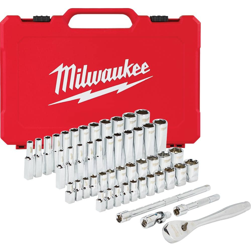 Milwaukee 1/4 in. Drive SAE/Metric Ratchet and Socket Mechanics Tool Set (50-Piece) $91.28 @ ToolTopia