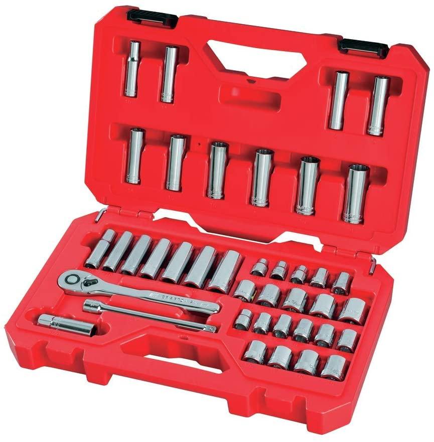 CRAFTSMAN Mechanics Socket Tool Set, SAE / Metric, 3/8-Inch Drive, 40-Piece $28.68 @ Amazon