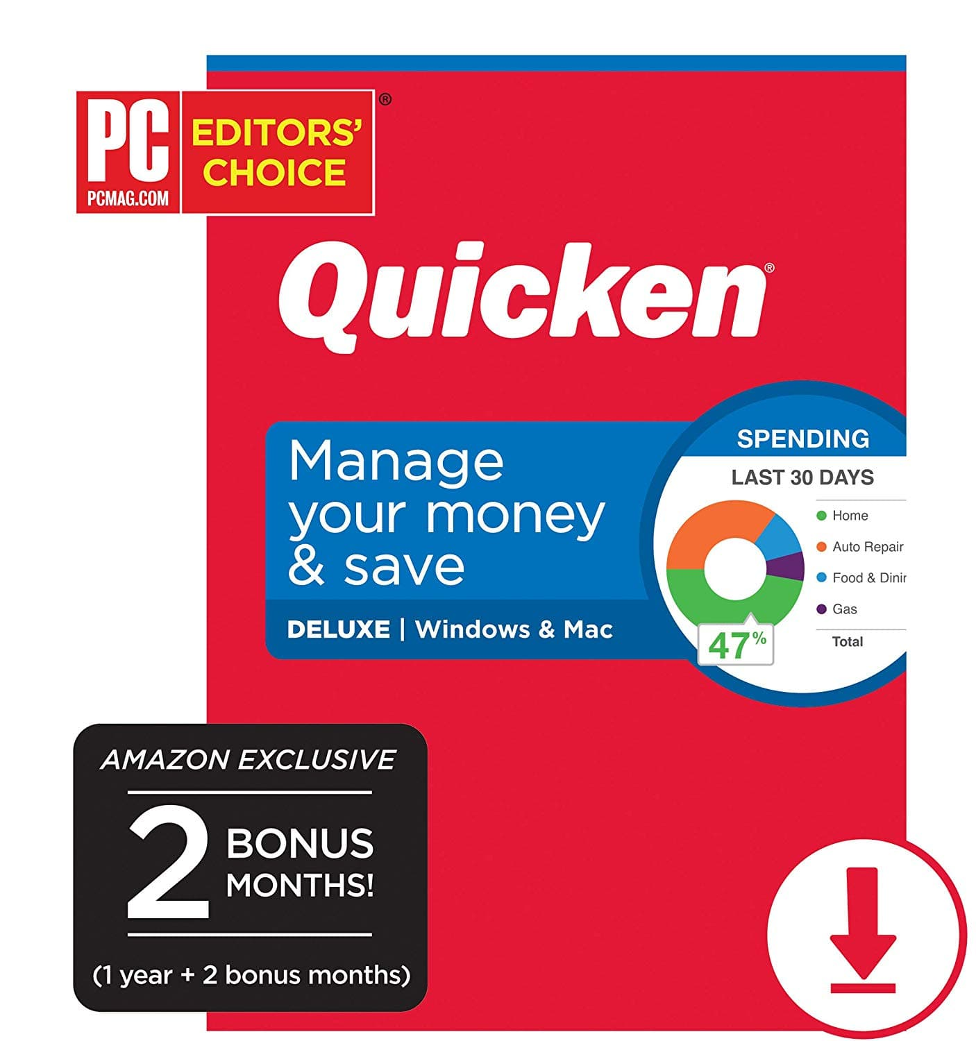 Quicken Deluxe Personal Finance - 14-Month Subscription [Amazon Exclusive] [PC/Mac Online Code] $29.99