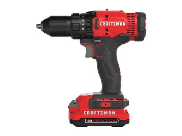Craftsman CMCD700C1R 20V Variable Speed Lithium-Ion 1/2 in. Cordless Drill Driver Kit with 1 (1.3 Ah) Battery (Refurbished) $49.99