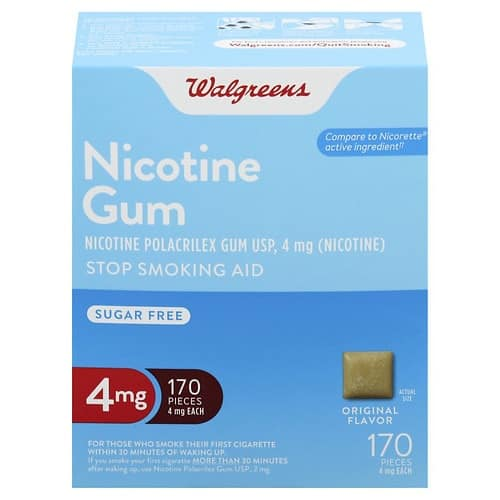 Walgreens has Nicotine Gum, 4mg Original 340 pieces for $32.48 after coupon and Free Shipping