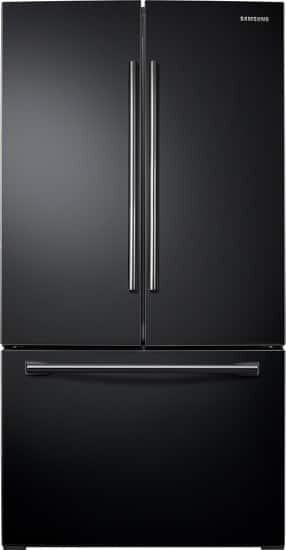 Samsung - 25.5 Cu. Ft. French Door Refrigerator - Black $1000
