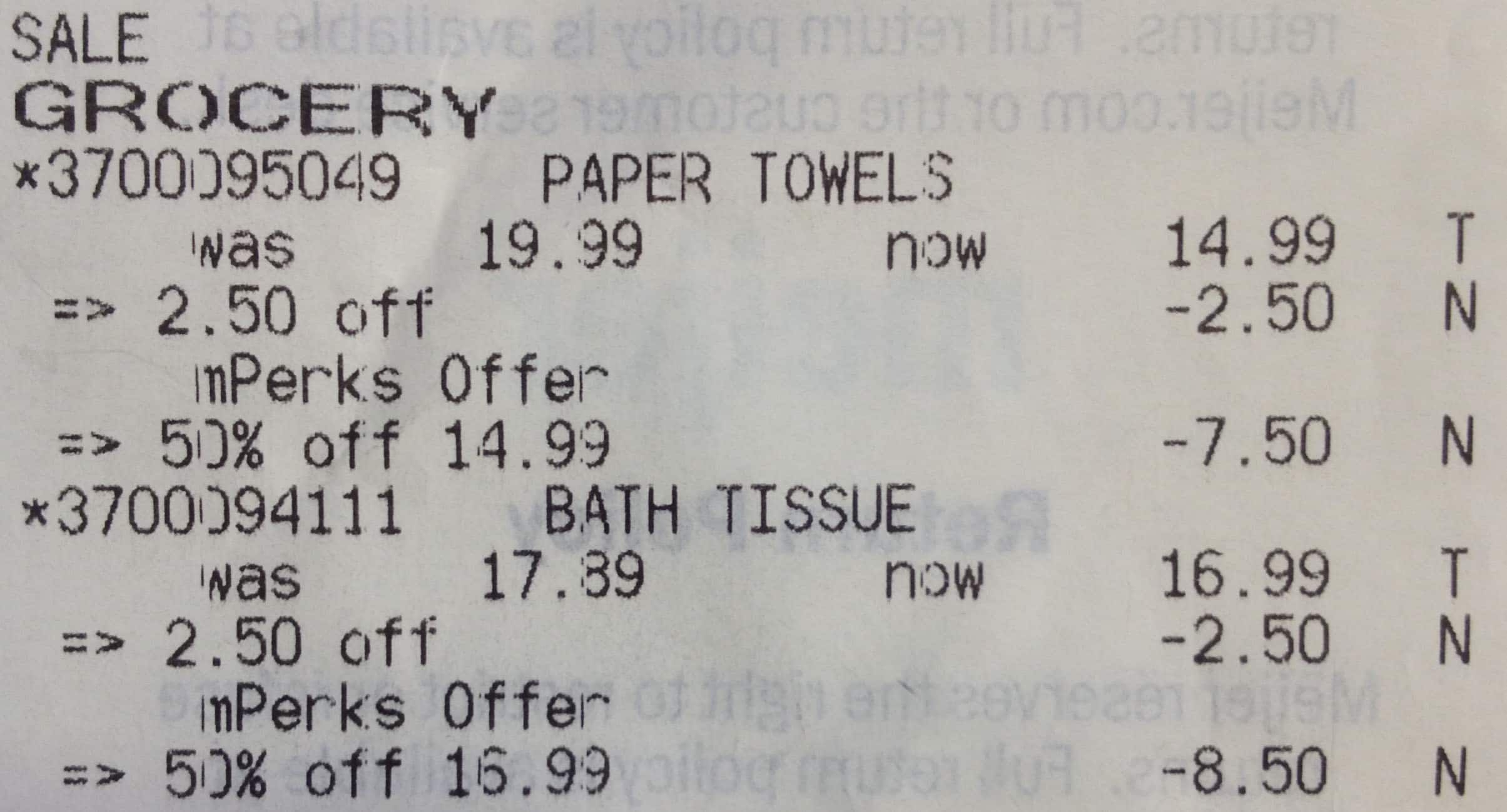 Meijer (In-Store): Bounty/Charmin/Puffs Paper Products 50% off with mPerks coupons (YMMV)