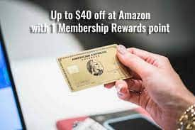 Amazon.com: Membership Rewards Offer 40% off (up to $40) using Amex points