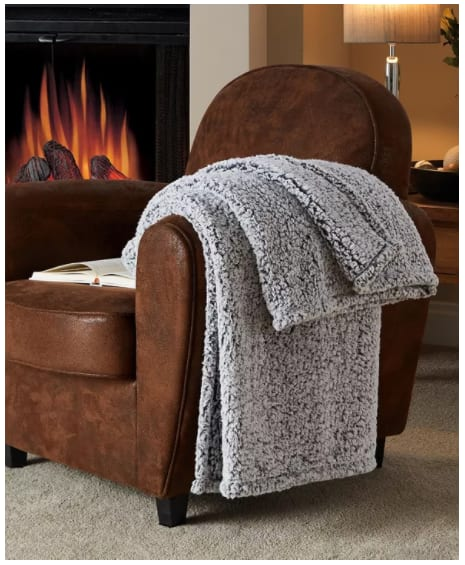 Victoria Classics Fireside Sherpa Throw $9.99