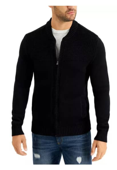 Men's Decker Full-Zip Sweater, Created for Macy's $19.99