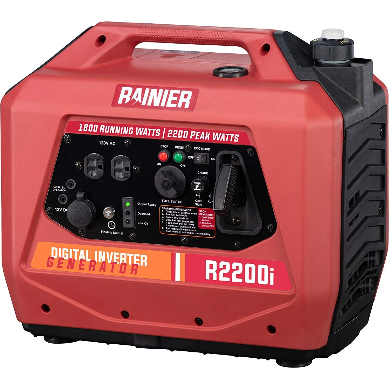 Rainier R2200i Super Quiet Portable Inverter Generator - 1800 Running & 2200 Peak - Gas Powered - CARB Compliant $377.5