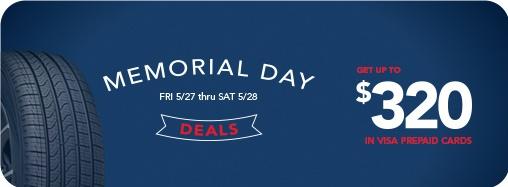 Discount Tire Memorial Day $100 rebate