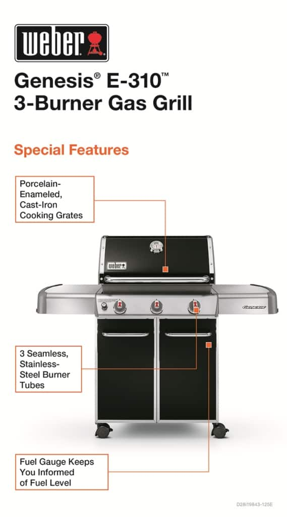 weber genesis e 310 lp grill 399 tax home depot. Black Bedroom Furniture Sets. Home Design Ideas