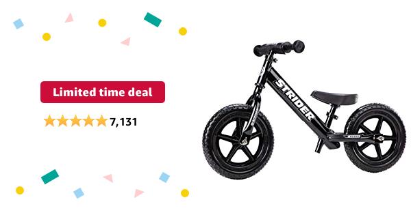 Strider - 12 Sport Balance Bike, Ages 18 Months to 5 Years  - $79.97