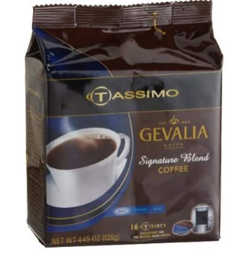 Gevalia Coffee, 16-Count Tassimo T-Discs (Pack of 5) for $14 w/ 15% s&s