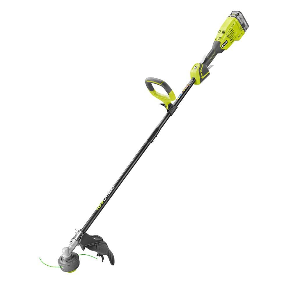 RYOBI ONE+ 18 Volt Lithium Ion Brushless Cordless String Trimmer Kit (Certified Pre-owned) - $57.99