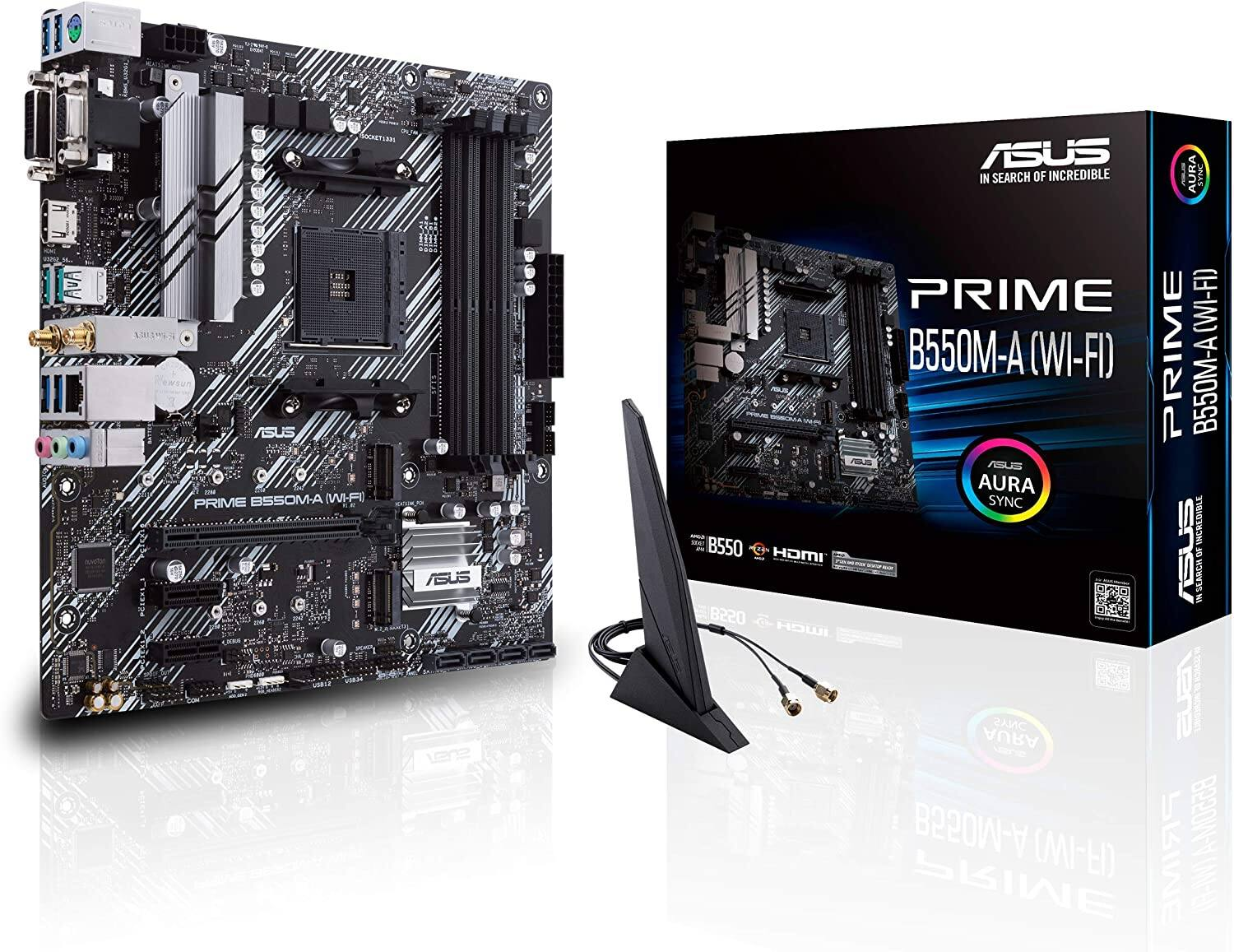 ASUS Prime B550M-A WiFi AMD AM4 Ryzen Micro ATX Motherboard Pre Order Available June 16 $150