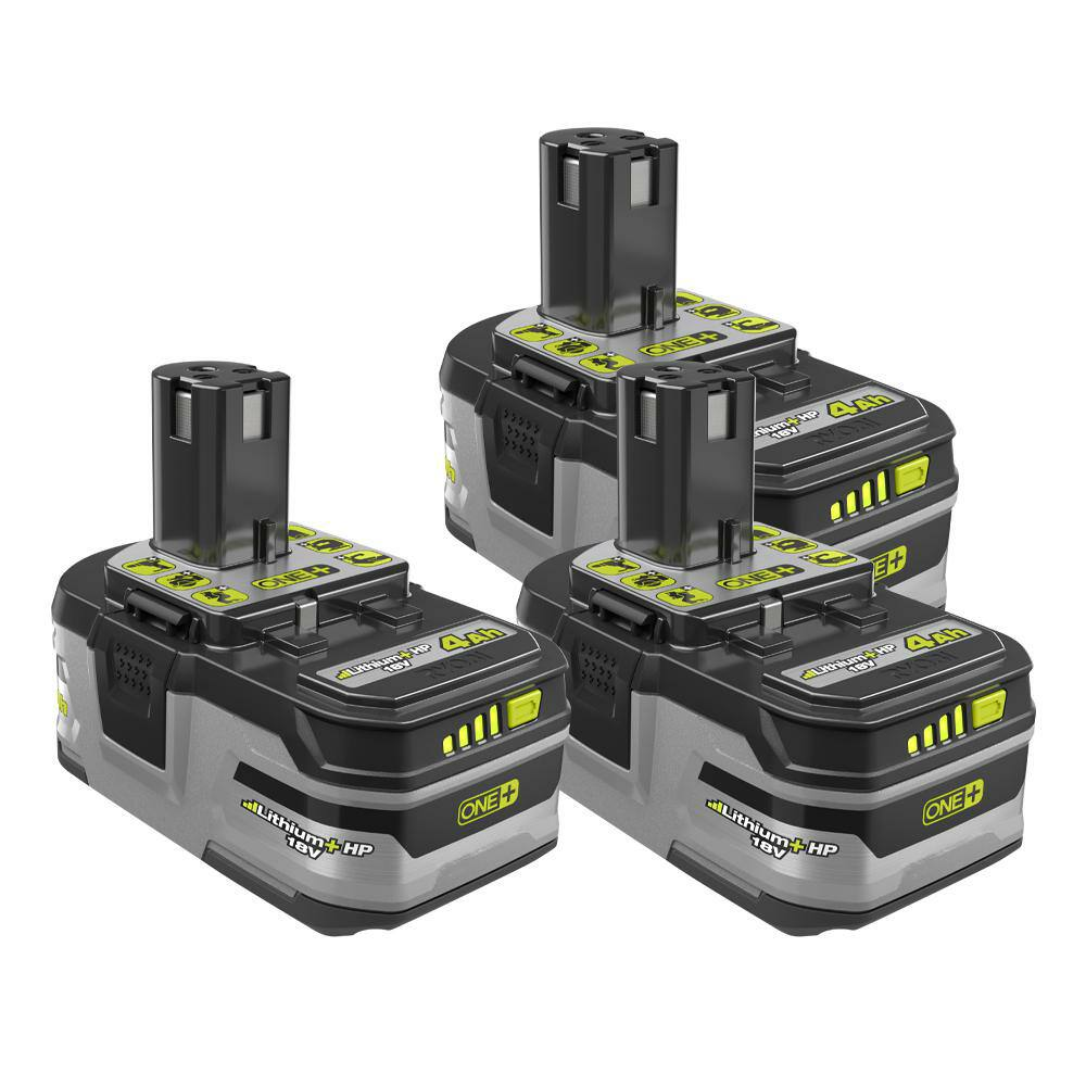Ryobi 18-Volt ONE+ 4Ah Lithium+HP High Capacity Battery 3-pack
