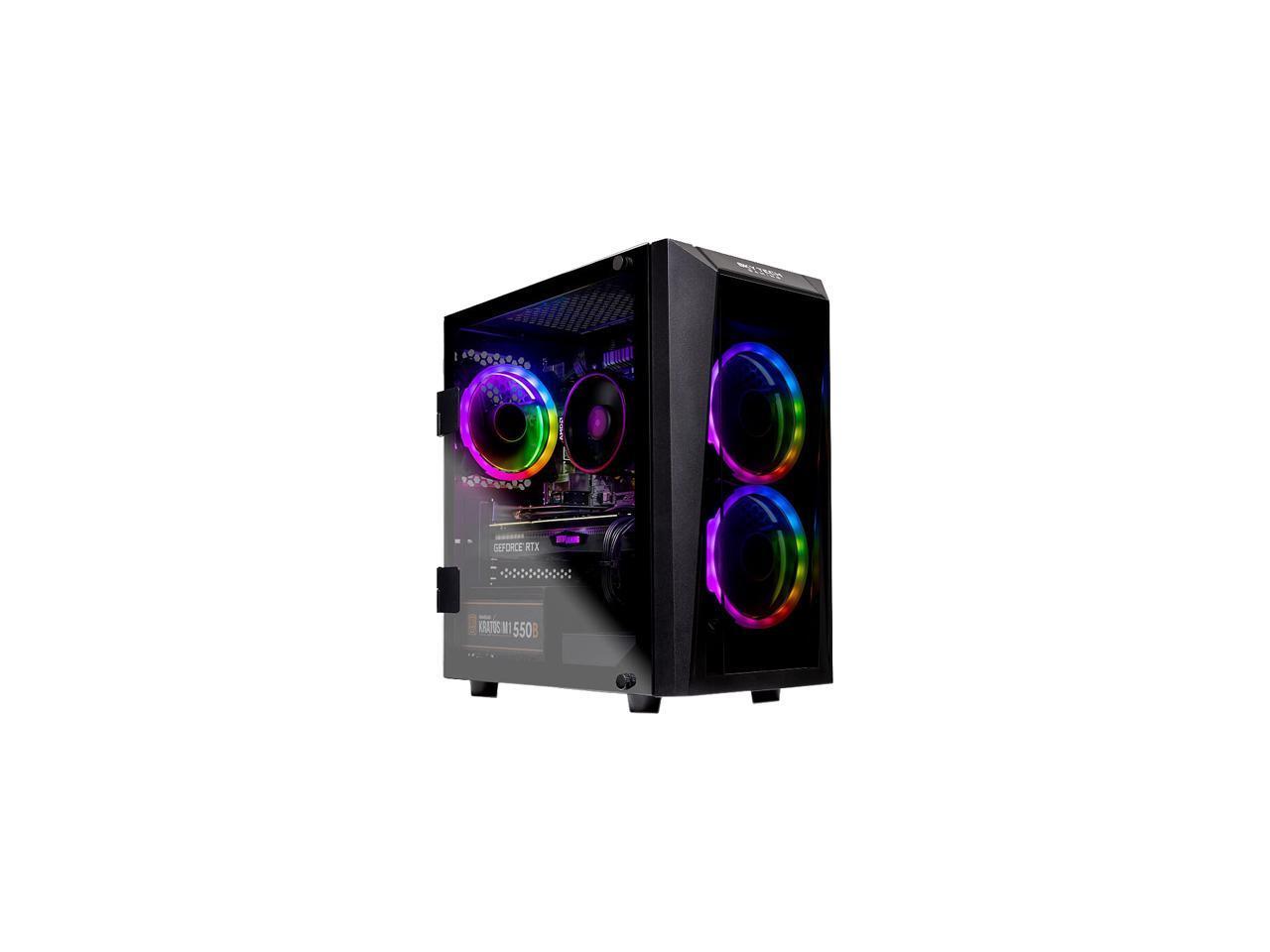kyTech - Gaming Desktop PC - AMD Ryzen 5 3600 (6-Core 3.6 GHz), NVIDIA GeForce RTX 2070 SUPER (8 GB), 16 GB DDR4, 500 GB SSD, AMD B450, Windows 10 Home 64-bit, Blaze II $1050
