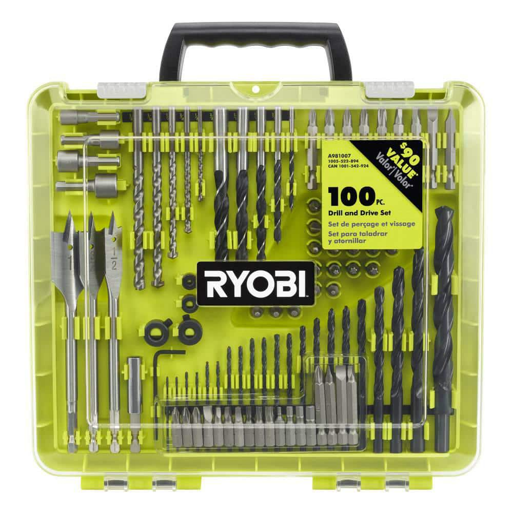 RYOBI 100-Piece Drill and Drive Set-A981007 - The Home Depot $14.88