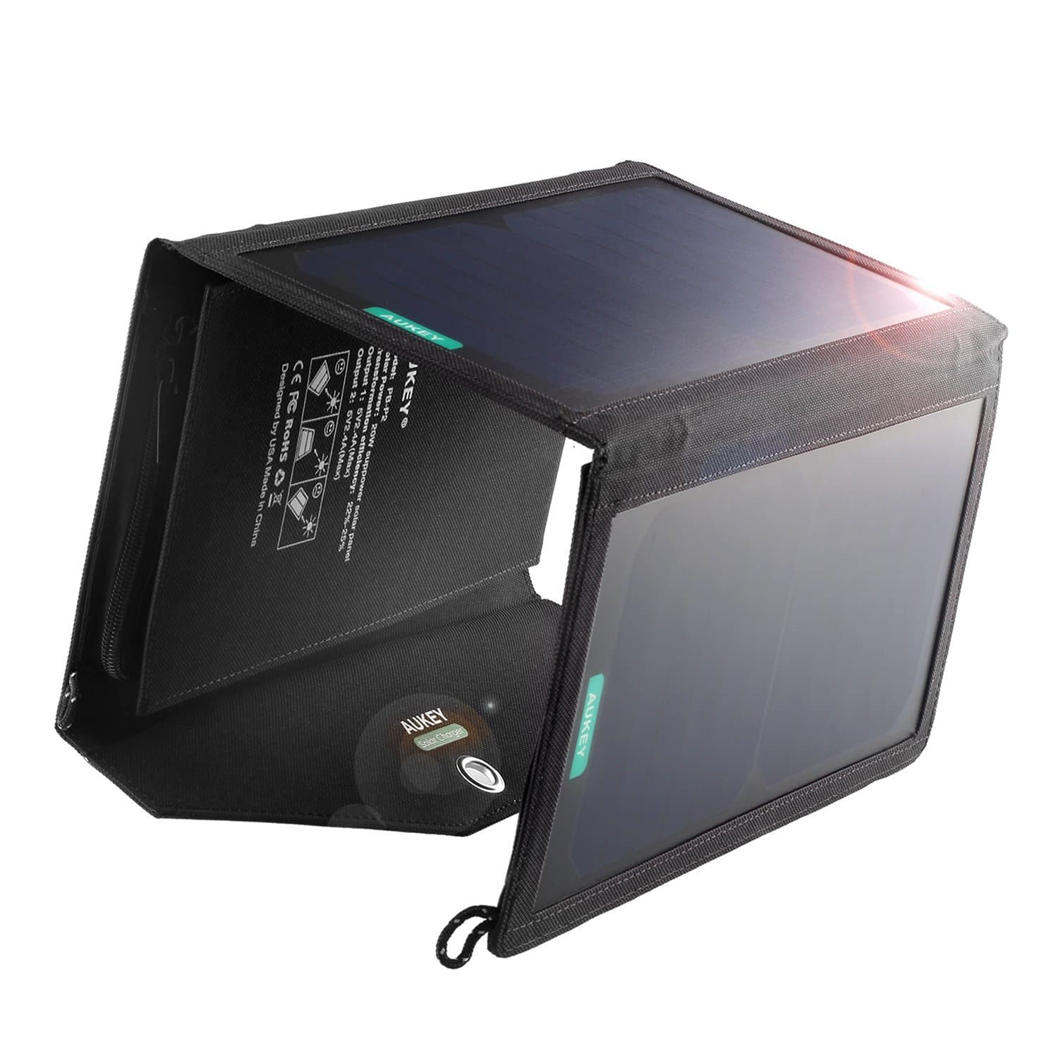 AUKEY 20W 2-Port Solar Charger $29.99