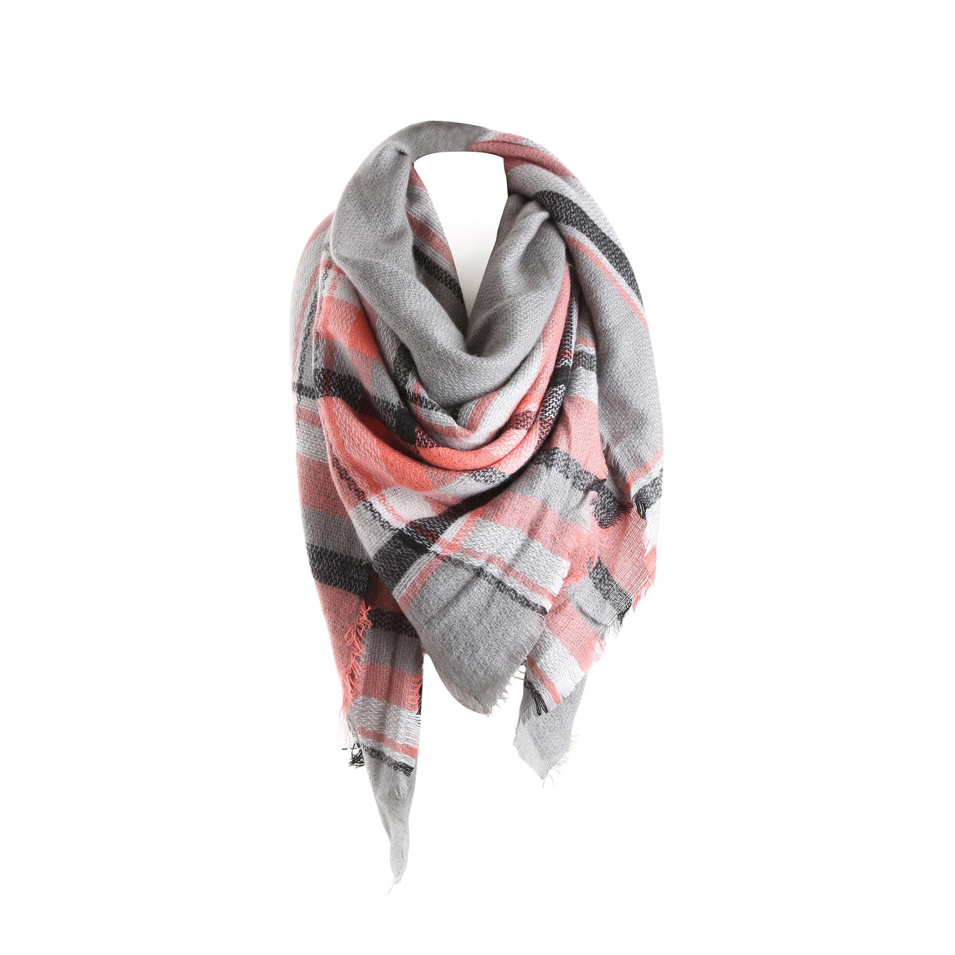 Surblue Women's Plaid Blanket Winter Scarfs for $11.19