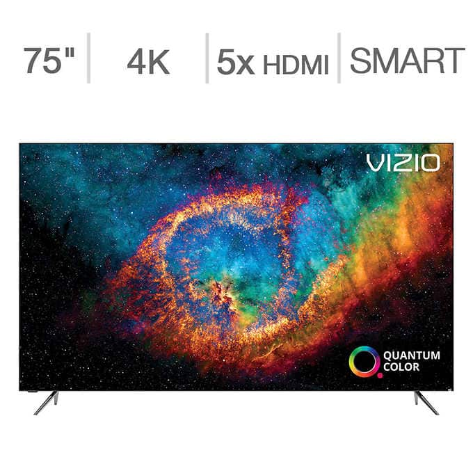 """Costco: Vizio 75"""" Class - PX-Series - 4K UHD Quantum LED LCD TV $1,599.99 + FS"""