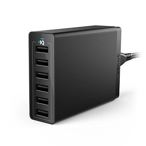 Anker 60W 6-Port USB Wall Charger, PowerPort 6 for $20.99 via AnkerDirect and Amazon