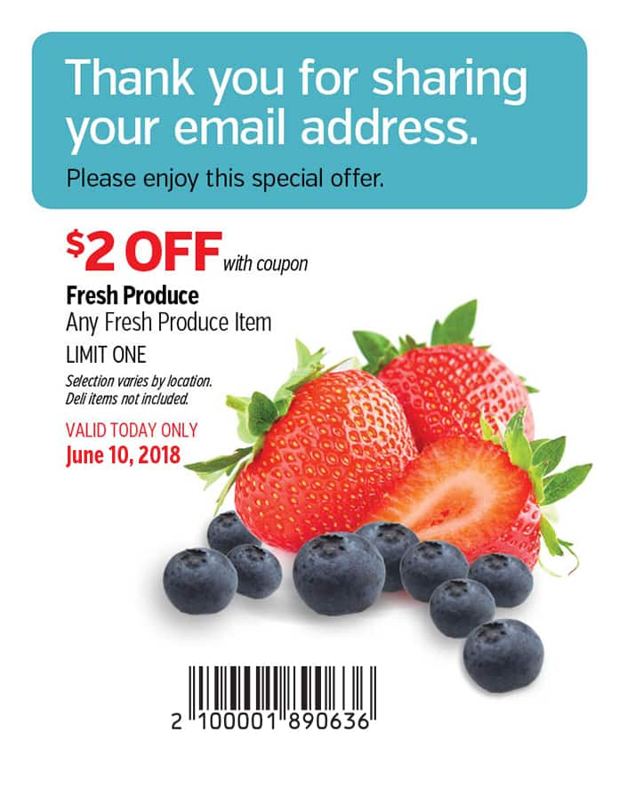 Costco Member Save $2 on Produce Today Only