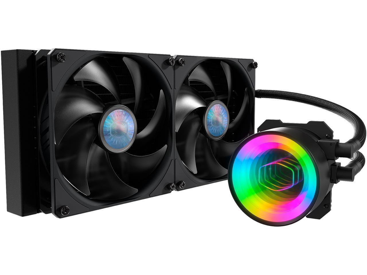 Cooler Master MasterLiquid ML280 Mirror ARGB Liquid CPU Cooler Dual 140mm@Newegg (AR) now $75