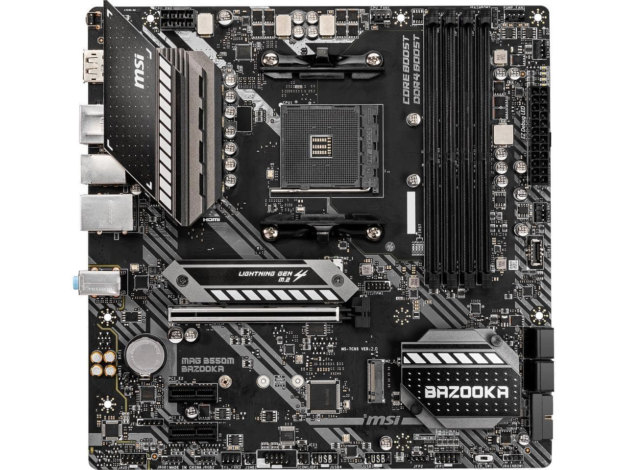 MSI MAG B550M BAZOOKA AM4 mATX Motherboard @Newegg (AR) $100