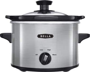 Bella 1.5-Quart Slow Cooker (Stainless Steel) $7