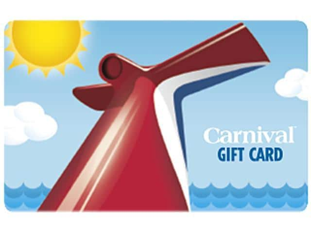 Carnival Cruise $100 Gift Card (Email Delivery) @Newegg $90