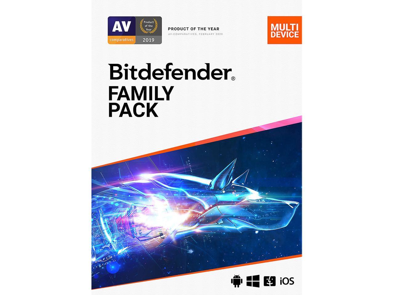 Bitdefender Family Pack 2021 (15-Device/2 Yr) @Newegg $38